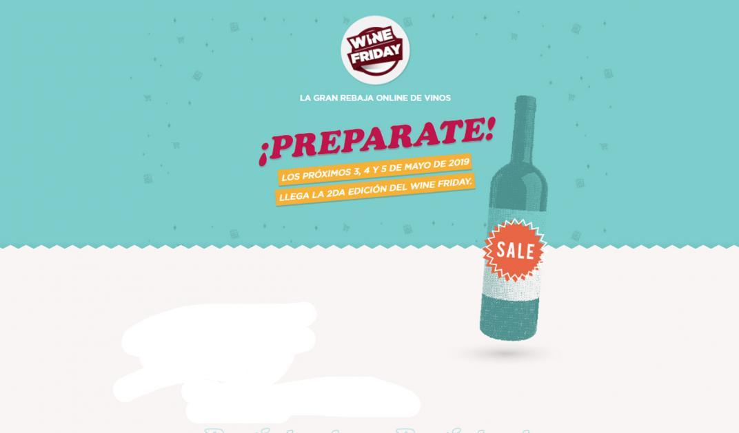 Llega el Wine Friday, con ofertas on line de 60% en vinos